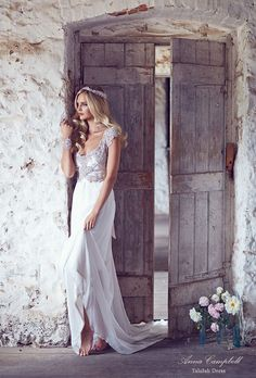 Beaded wedding dresses by Anna Campbell