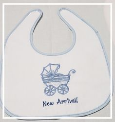 I/'m The Little Sister Embroidered Baby Pull-Over Bib Gift Personalised