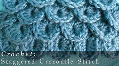 Crocodile Stitch | Staggered { Crochet }