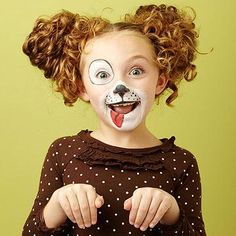 <p>If your child is set on dressing up like her favorite four-legged friend, an easy paint job can make your pup stand out from the pack. Start with white face paint to enhance the look, and add basic black eyeliner to get tails wagging</p>