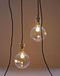 Nice simple lab flask pendant light.