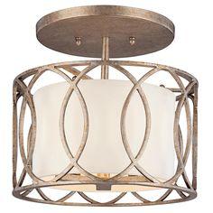 Circlet Semi Flush Ceiling Light  3-60W candelabra base
