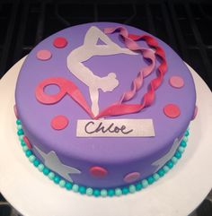 Gymnastic birthday cake