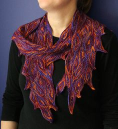 Ravelry: Optical Delusion: Conflagration pattern by Kim McBrien Evans