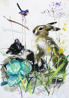 ilustracja dla dzieci: Janusz Grabiański Art And Illustration, Children's Book Illustration, Animal Sketches, Animal Drawings, Historical Art, Abstract Drawings, Sketchbook Inspiration, Animal Paintings, Cat Art