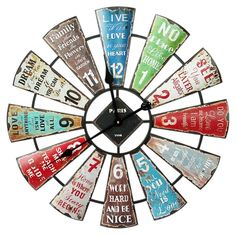 The clock is made of metal, measures 60cm x 60cm x 4cm. Great Gift only costs $69