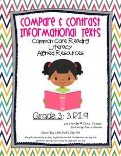 """Here are two handouts to reinforce the common core standard of """"Comparing Informational Text - 3.RI.9"""". These resources can be used for practically anything (guided instruction, literacy centers, seat work, homework, assessments). If you enjoy this resource check out some of my other common core units."""