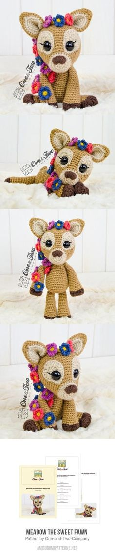 Meadow the Sweet Fawn  amigurumi pattern