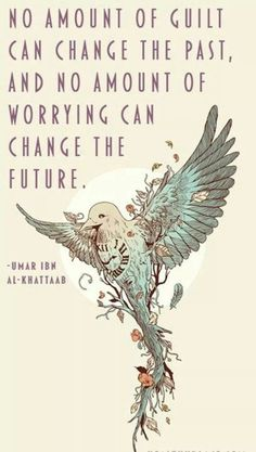 So turn the guilt into motivation and let the worrying go. Use the motivation to improve your future. Great Quotes, Quotes To Live By, Me Quotes, Inspirational Quotes, Qoutes, Motivational Thoughts, Super Quotes, Daily Quotes, Frases Love