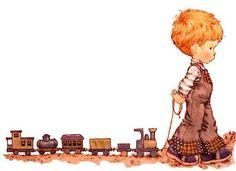 Niño y trenes
