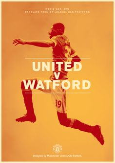 Match poster. United v Watford, 2 March 2016. Designed by @manutd