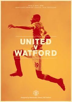 Match poster. United v Watford, 2 March 2016. Designed by @manutd
