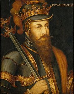 King Edward III of England victor at the Battle of Sluys on 24th June 1340 in the Hundred Years War