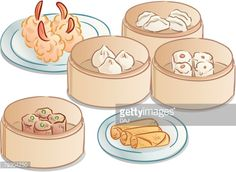chinese dim sum drawing - Google Search