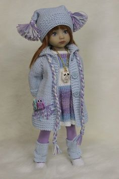 knitted dolls 55 ideas for sewing crafts dolls american girls Knitting Dolls Clothes, Crochet Doll Clothes, Knitted Dolls, Doll Clothes Patterns, Crochet Dolls, Clothing Hacks, Cute Dolls, Handmade Clothes, Girl Dolls