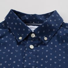 A cotton poplin shirt with a 'Flora' discharge print design all-over. - Norse Projects