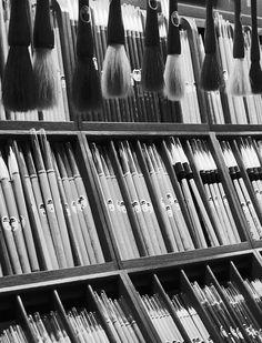 brushes at Kyukyodo