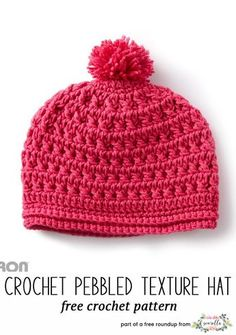 Crochet Winter Kids Hats Roundup Crochet this easy pebbled texture kids child hat from Yarnspirations from my winter kids hats free pattern roundup! Bonnet Crochet, Crochet Beanie Pattern, Crochet Cap, Free Crochet, Crochet Patterns, Hat Patterns, Crochet Kids Hats, Crochet Scarves, Crochet Crafts