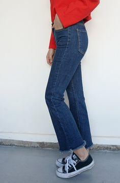 Pure jean-ius OOTD with #dailyabout #bootcut #denim #pants! Denim Pants, Mom Jeans, Porn, Pure Products, My Style, Fashion, Moda, Denim Jeans