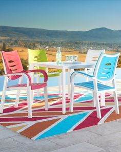 Backyard patio, meet clever German design. To start with, our Myrtle Beach Chairs boast great style with curved arms and back slats for a fresh contemporary look.