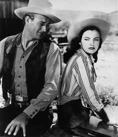 with Ella Raines in Tall in the Saddle (1944) directed by Edwin L.Marin