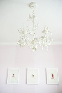 A beautiful chandelier!  Gotta have one for the girls room.