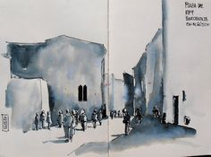 Urban Sketchers Spain. El mundo dibujo a dibujo.: Tres dibujos del casco antiguo de Barcelona