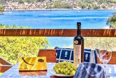 Vier Schlafzimmer Steinhaus mit Strandlage und Privatstrand - Vela Luka Dubrovnik, Bergen, Strand, Home, Travel Agency, Parking Space, Pets, Night, Bedroom