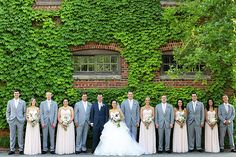 Classic Wedding Photos with an Ivy Covered Wall | Eleise Theur Photography on @tidewatertulle via @aislesociety