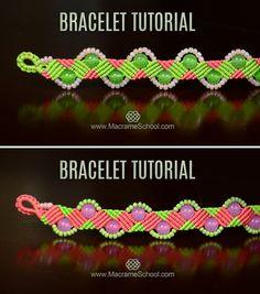 Beaded Zig Zag Wave Bracelet Tutorial #DIY #Macrame #Bracelet #Jewelry #FreeTutorial #ZigZag #Beadwork #Make #Knot #Craft