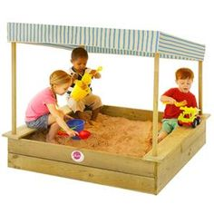 Inspire imaginative, tactile play within the durable outdoor design of the Palm Beach Wooden Sandpit With Canopy from Plum. Sand Play, Kids Sand, Outdoor Play Equipment, Kids Outdoor Play, Fabric Canopy, Sand And Water, Play Centre, Play Spaces, Christmas Gifts For Kids