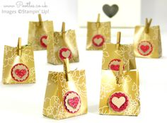 Stampin' Up! Gold Soiree Favour Box Tutorial