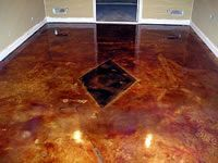 Brown Paper Bag Floor On Concrete Google Search Cool Floors Flooring