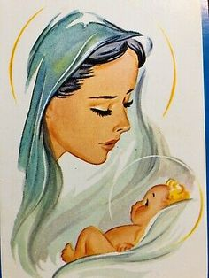 Mother Mary Images, Images Of Mary, Jesus Drawings, Easy Drawings, Christmas Jesus, Christmas Cards, Blessed Mother Mary, Jesus Mother, Mama Mary