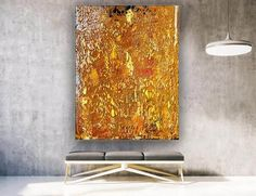 Gold Texture Abstract Painting Oversized Wall Art Modern image 2 Large Canvas Wall Art, Extra Large Wall Art, Abstract Canvas Art, Gold Texture, Texture Art, Gold Painted Walls, Original Paintings, Original Art, Bedroom Paintings