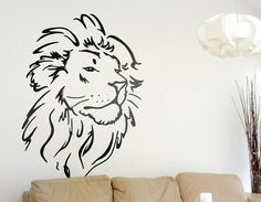 This gorgeous lion head wall sticker will make a bold statement on any wall.