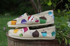 Custom Cupcake Toms - designed by Amanda Allwine! I wish they were still available :(