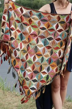 Your platform for buying and selling handmade items - Triangular scarf crochet boho shawl crocheted scarves Crochet Wool, Crochet Poncho, Knitted Shawls, Crochet Scarves, Crochet Clothes, Hand Crochet, Hand Knitting, Ravelry Crochet, Crochet Wraps
