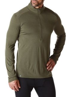 REI Men's Merino Midweight Half-Zip Base Layer Top