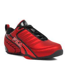 Fire Red & Black Clutch Running Shoe
