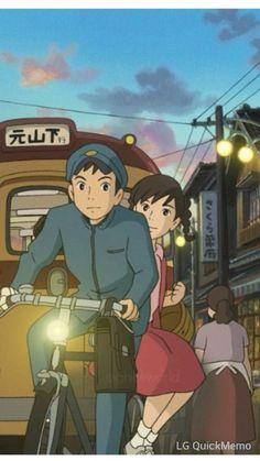 コクリコ坂から-Desde La colina de las Amapolas,historia de juventud,ideales,amor y amistad,el director es el hijo de Hayao Miyazaki,Goro Miyazaki.