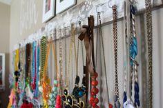 Jewelry and Scarf organizer. - A girl and a glue gun