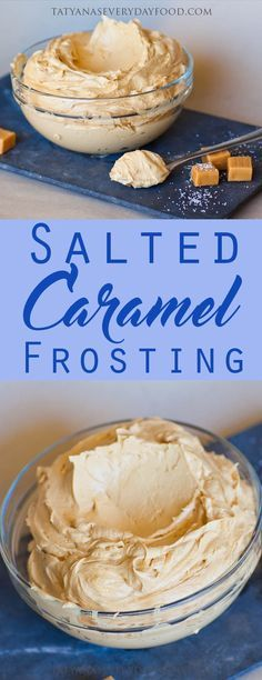 Salted Caramel Frosting – perfectly balanced buttercream made with sweet dulce de leche caramel! This is one of my all-time favorite recipes and it's perfect for frosting cakes and cupcakes. Use this frosting for chocolate, coffee or vanilla-flavored cake