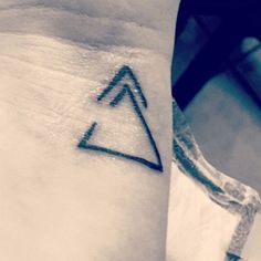 Stay open to change and keep moving forward. Small tatt with a big meaning. #tattoos #delta #small tatts (Small Tattoos With Meaning)