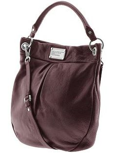 Mark by Marc Jacobs Classic Q Hillier hobo shoulder bag in Bordeaux leather  Bago, Bag c3aee3ec68