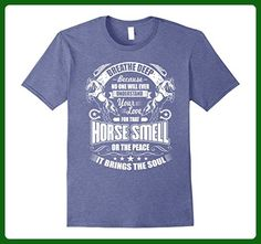 Mens Horse Lover T-Shirt Equestrian Barn Tee Small Heather Blue - Animal shirts (*Amazon Partner-Link)