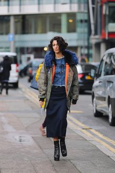 """topshop: """"Yasmin Sewell makes us want to style up our parkas with a dramatic faux-fur collar. """""""