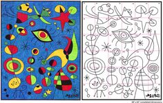 Art Projects for Kids: Ode to Joan Miro Mural Diagram                                                                                                                                                                                 Más