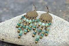Chandelier Jade Earrings Earrings Gemstone by TaitallasHandmade