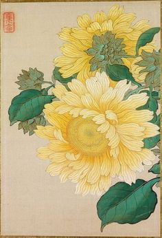 "fujiwara57: "" kachō-ga 花鳥画 ou kachō-e 花鳥絵 estampe polychrome de fleurs et d'oiseaux / Pictures of Flowers and Birds de Okamoto Shūki 岡本秋暉 (1807 - 1862). """